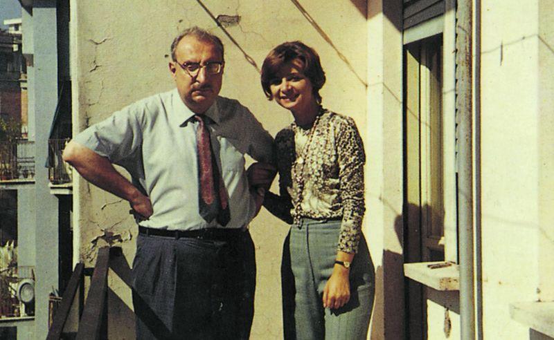 Giorgio Manganelli y su hija Lietta